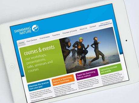 Web design for Swimming Nature Network