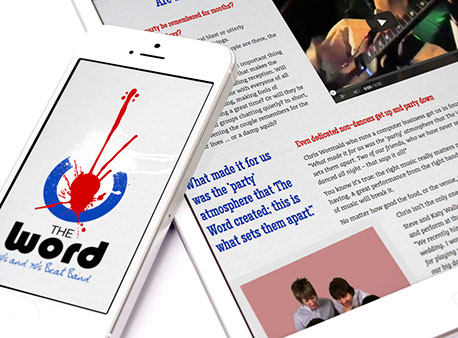 Web design for The Word Band